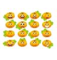 emoticon pumpkin vector image