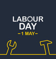 1 may labour day background eps10 vector image