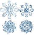 Abstract Floral Ornamental Icon Set vector image vector image