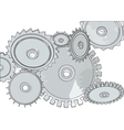 abstract metall gears vector image vector image