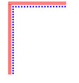 american flag corner usa symbol frame vector image vector image
