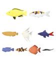 aquarium fish set icons in cartoon style big vector image vector image