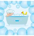 Baby boy bath water vector image