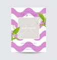 baby shower arrival card template with photo frame vector image