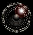 Banner for music festival with acoustic speaker vector image