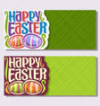 banners for easter holiday vector image vector image