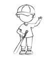 baseball player with bat avatar character vector image vector image