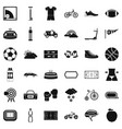 bike icons set simple style vector image vector image