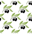 Black olives seamless pattern vector image vector image