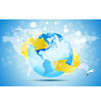 Blue Background with Planet Earth vector image vector image