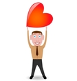 Boy with heart vector image
