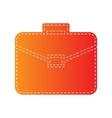 Briefcase sign Orange applique vector image vector image