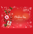 bright red holiday vector image vector image