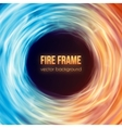Burning fire frame Fiery Background vector image vector image