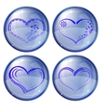 buttons valentine heart set vector image