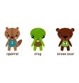 Cartoon animal character set Frog and bear vector image vector image