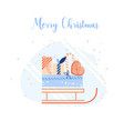 christmas decoration set of design vector image vector image