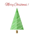Christmas tree with scetch lines card EPS vector image vector image