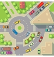 City map with top view cars and houses vector image vector image