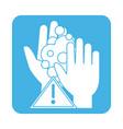covid19 19 coronavirus prevention washing hands vector image vector image