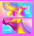 design templates in trendy vibrant gradient vector image vector image