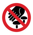 do not pick wild mushrooms prohibition sign vector image vector image