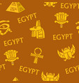 egypt ancient egyptian culture seamless patterns vector image