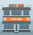 Facade of a cafe vector image vector image