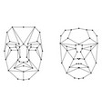face recognition scanning grid vector image