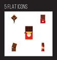 flat icon chocolate set of wrapper chocolate bar vector image vector image