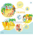 flat travel template vector image vector image