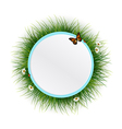 Floral frame grass background vector image vector image