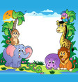 frame with tropical animals 2 vector image