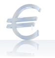 Frozen euro vector image vector image