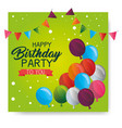happy birthday balloons air party vector image