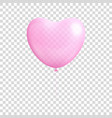 heart shaped balloon transparent isolated vector image vector image