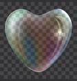 heart soap bubble concept background realistic vector image