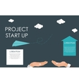 Helping Hand Quick Start Up Flat Concept vector image