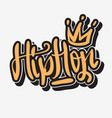 hip hop lettering graffiti tag style custom type vector image vector image