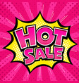 hot sale banner pink message yellow star vector image