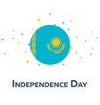 independence day of kazakhstan patriotic banner vector image
