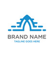 initial logo design technology a vector image vector image