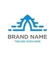 initial logo design technology vector image vector image