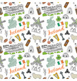 ireland sketch doodles seamless pattern irish vector image vector image