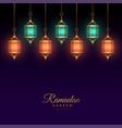 islamic arabic lantern decoration ramadan kareem vector image vector image