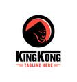 king kong logo jungle vector image
