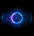 light center futuristic game digital technology vector image vector image