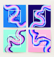 liquid fluid poster set vector image vector image