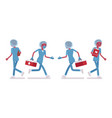 male nurse walking and running vector image vector image