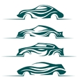 Modern cars design elements vector image